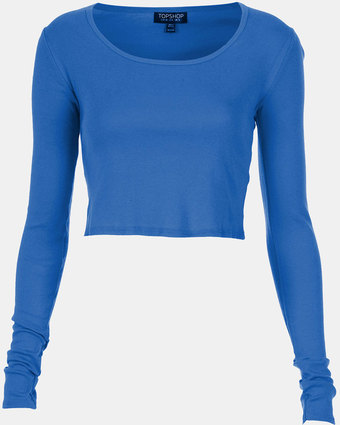 topshop-start-of-color-list-bright-blue-long-sleeve-crop ...